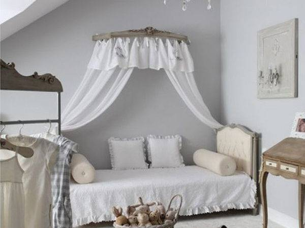 Shabby Chic Grey Kids Room Designs