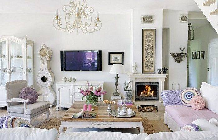 Shabby Chic Style Interior Decoration Ideas Home