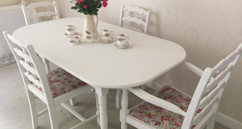 Shabby Chic Table Chairs Cottage Kitchen Dining
