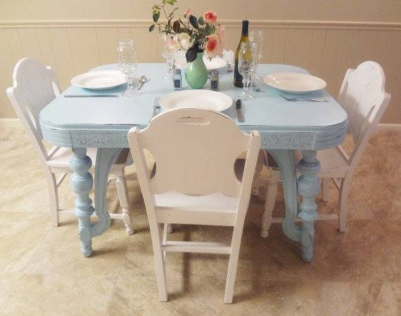 Shabby Cottage Chic Furniture Dining Room Thepinktoolbox