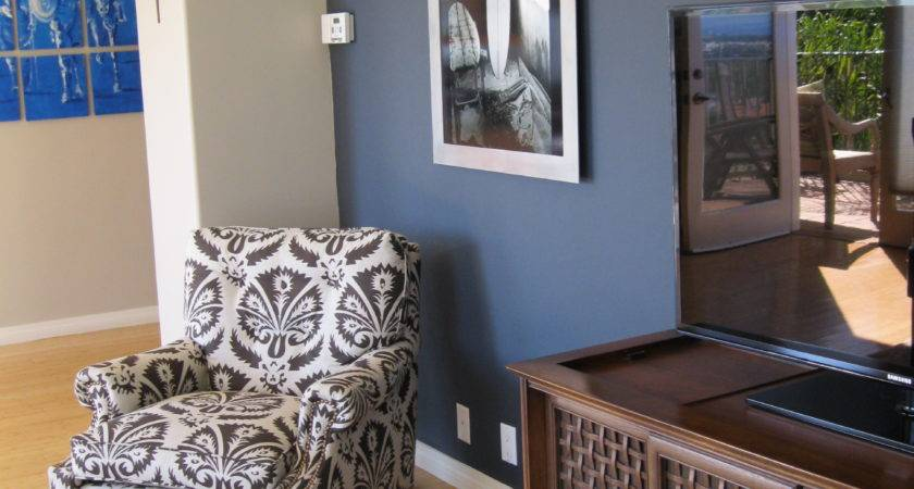 Shade Blue Wall Camoflauges Love Chair Too