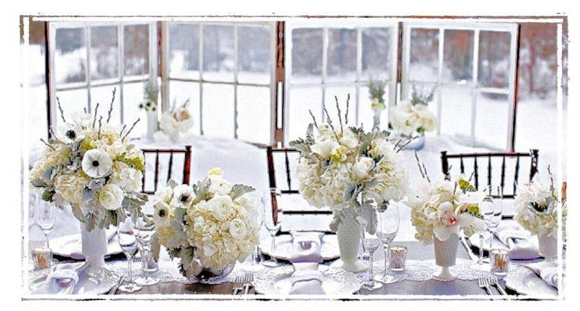 Shannon Shanonigins White Christmas Table Scapes