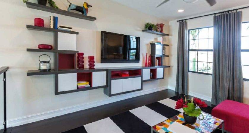 Shelves Living Room Floating Design Ideas Home