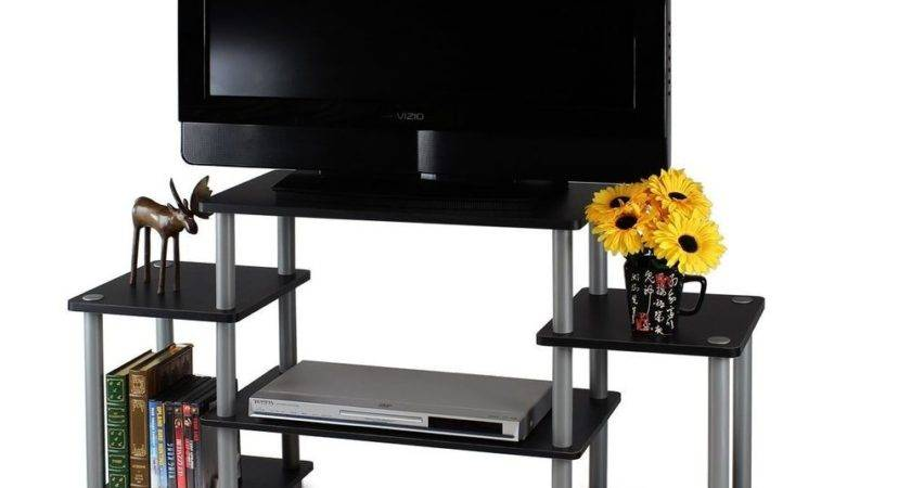 Shelves Stand Rounded Corner Shelf Entertainment Center