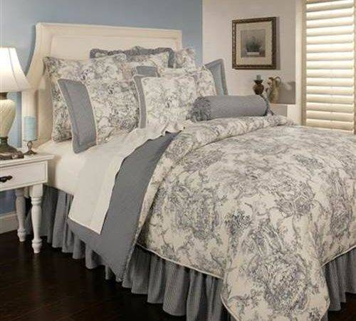 Sherry Kline Country Toile Blue Comforter Set California