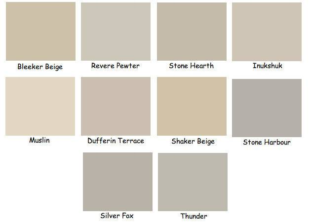 Sherwin Williams Beige Paint Color Chart