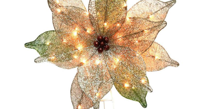Shop Holiday Living Pre Lit Poinsettia Constant Clear