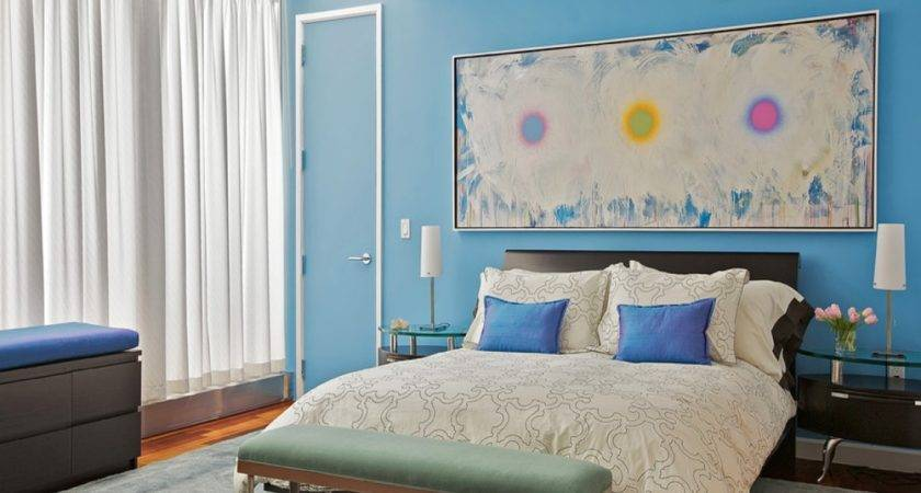 Show Bedrooms Designs Blue Bedroom Accent Wall Paint