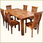 Sierra Piece Formal Rustic Solid Wood Dining Table