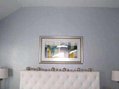 Silver Blue Metallic Paint Accent Wall Frisco Faux