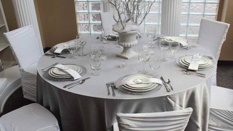 Silver Christmas Table Decorations Window Home