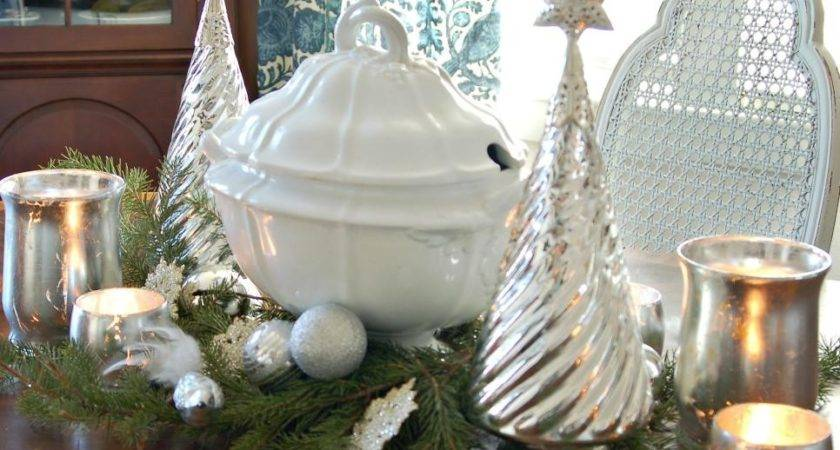 Silver Gold Christmas Decorations Ideas Table
