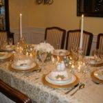 Silver Gold Christmas Table Decorations Mbox