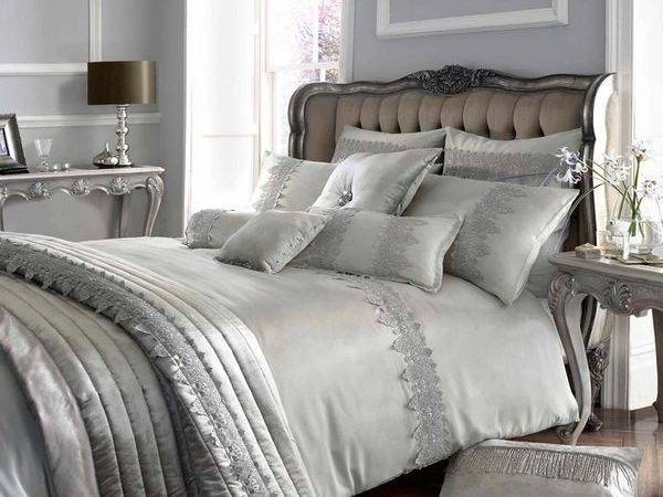Silver White Bedroom Designs