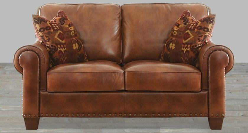 Silverado Leather Sofa Nail Head Accent Pillows