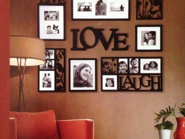 Simple But Fashionable Living Room Wall Decoration
