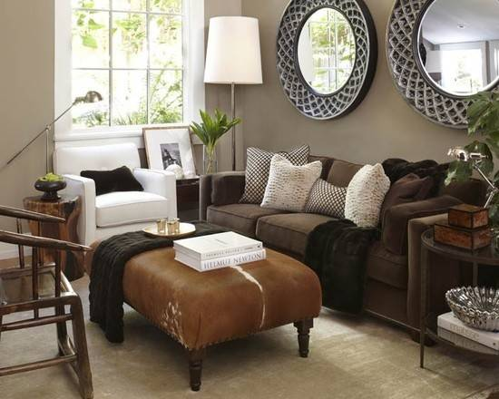 Simple Details Freshen Your Old Brown Sofa