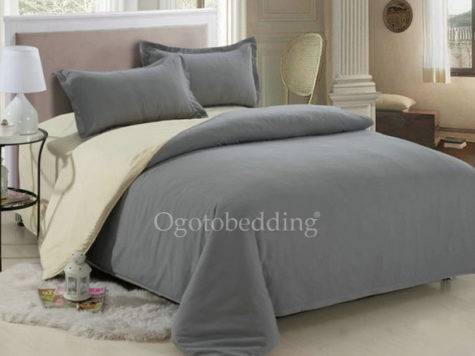 Simple Gray Cheap Primitive Comforter Sets King Ogb