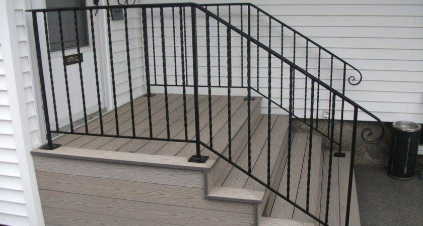 Simple Iron Railing Designs Stairs Kitchen