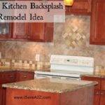 Simple Kitchen Backsplash Remodel Idea Isavea
