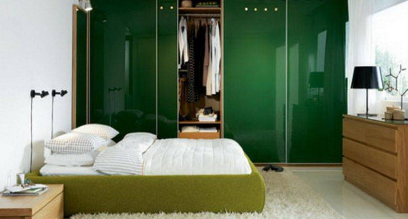 Simple Modern Bedroom Designs Couples Green Bed