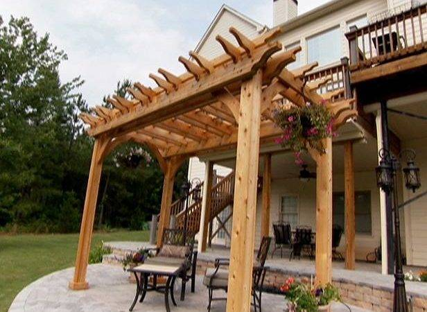 Simple Pergola Designs Tree Trunk Diy Ideas