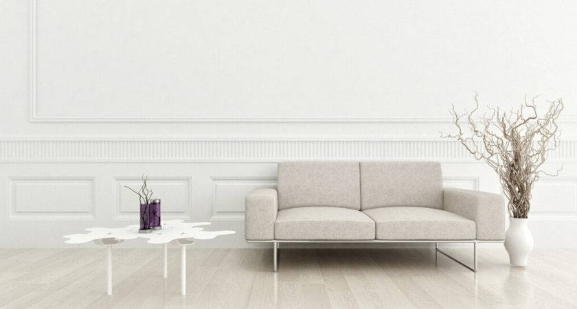 Simple White Living Room Wall Design House