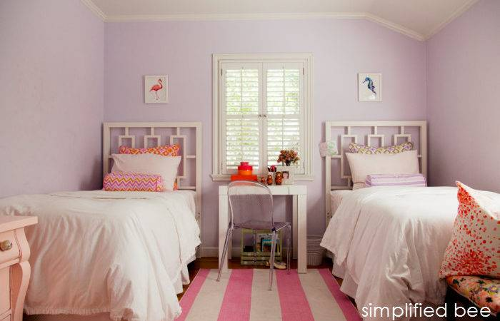 Simplified Bee Shared Girls Bedroom