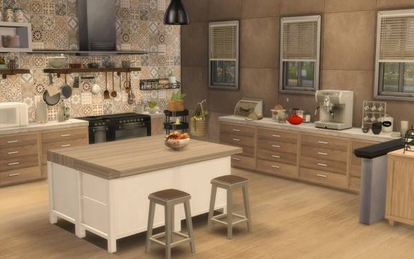 Sims Artists Kitchen Rustique Chic