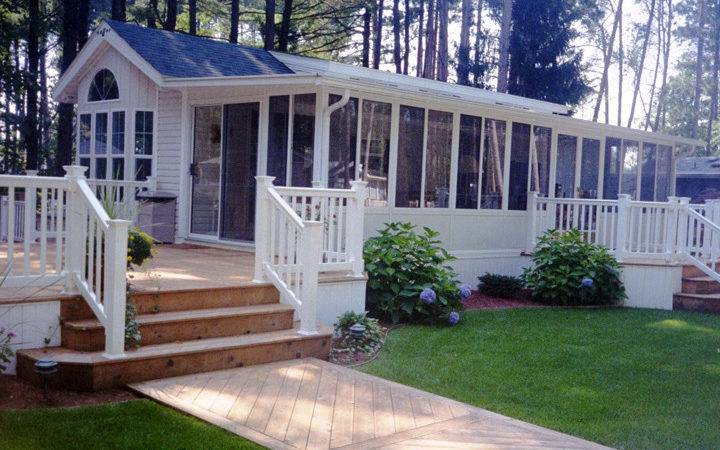 Single Wide Mobile Home Porch Homes Ideas