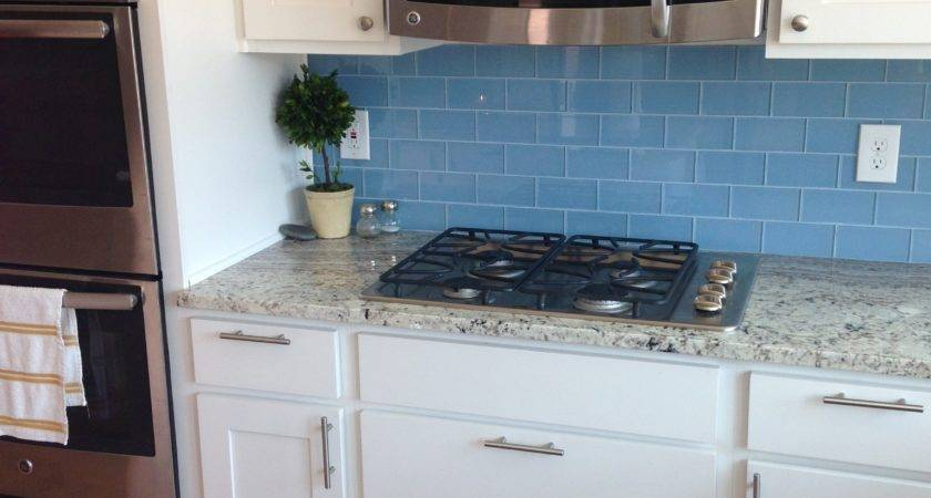 Sky Blue Glass Subway Tile Outlet