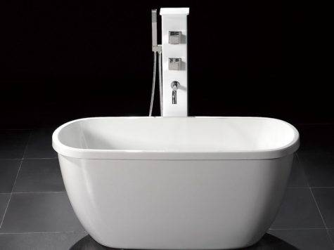 Small Acrylic Modern Standing Bathtub Faucet
