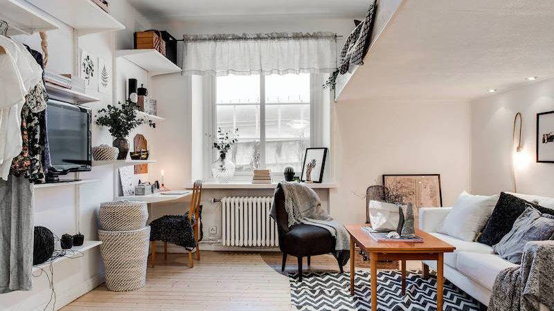 Small Apartment Meets Relaxed Scandinavian Design Hall