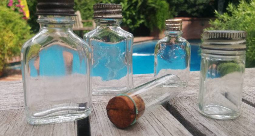 Small Apothecary Bottles Assortment Vintage