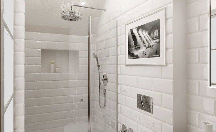 Small Bathroom Big Space White Brick Timber Flooring