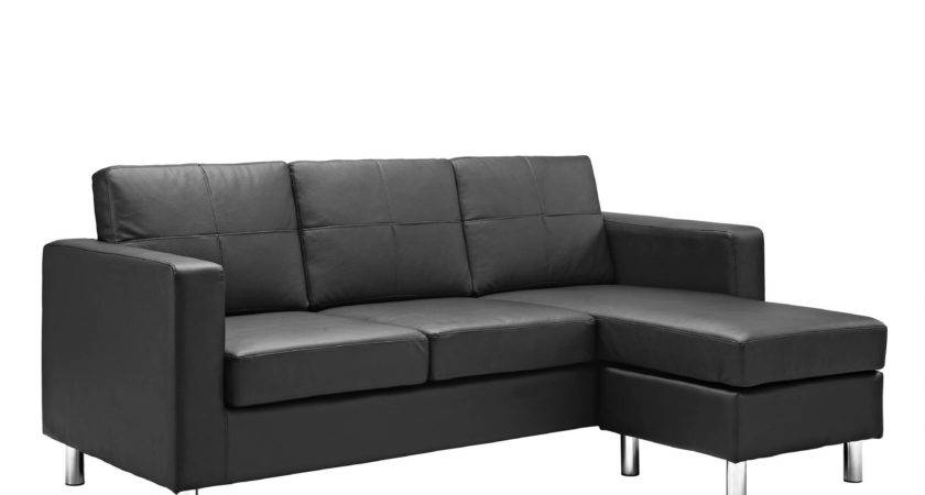 Small Black Leather Sectional Sofa Hotelsbacau