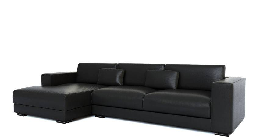 Small Black Leather Sectional Sofa