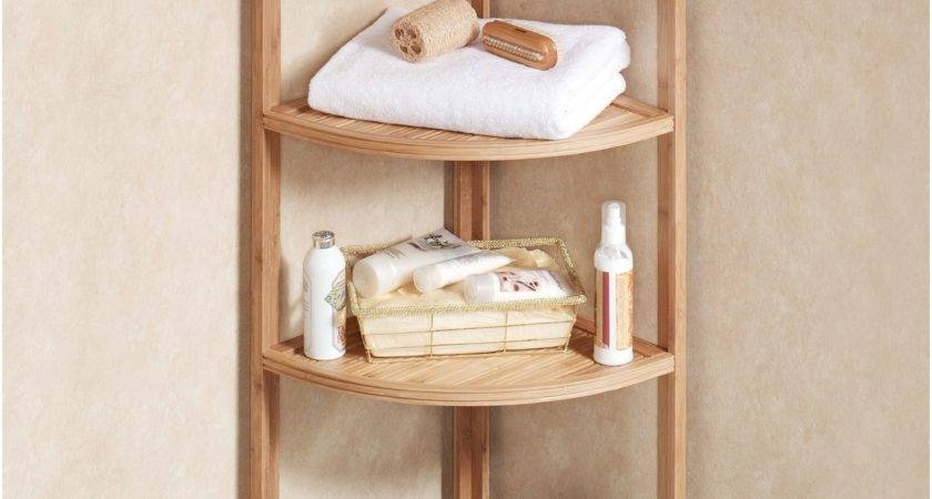 Small Corner Shelf Bathroom Decoration Plan
