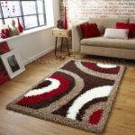 Small Extra Large Brown Cream Beige Red Modern Pattern