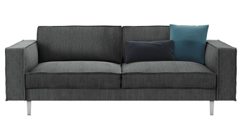 Small Gray Sectional Couch Polkadot Cushions Also