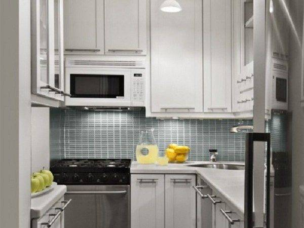 Small Kitchen Design Ideas Spotlights White Cabinets Grey