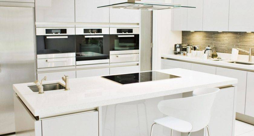Small Kitchen Modern White Furniture Home Design