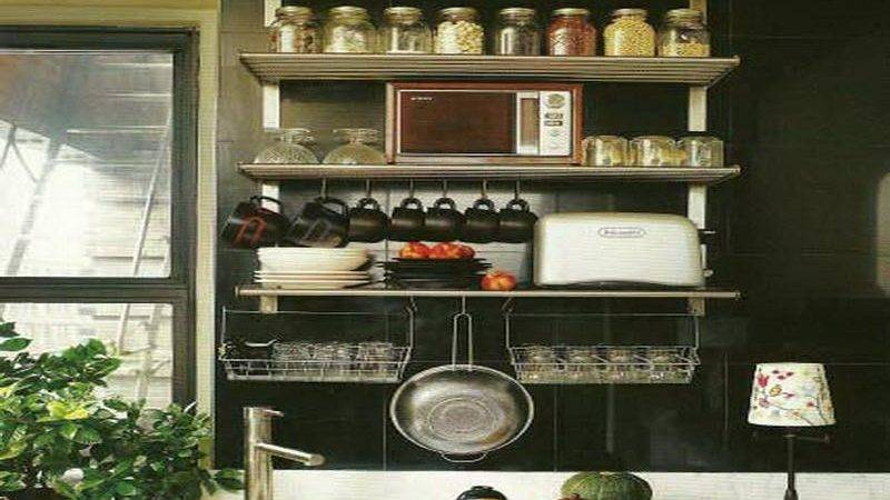 Small Kitchen Wall Shelving Ideas Home Interior Design