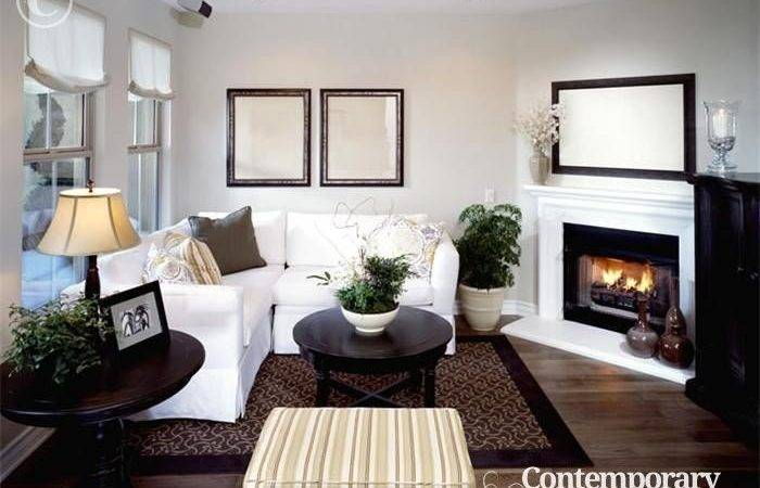 Small Living Room Corner Fireplace