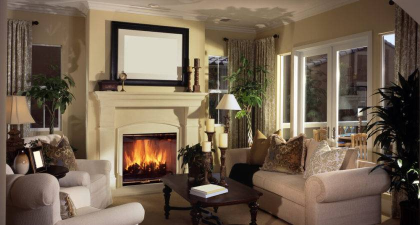 Small Living Rooms Fireplace Home Combo