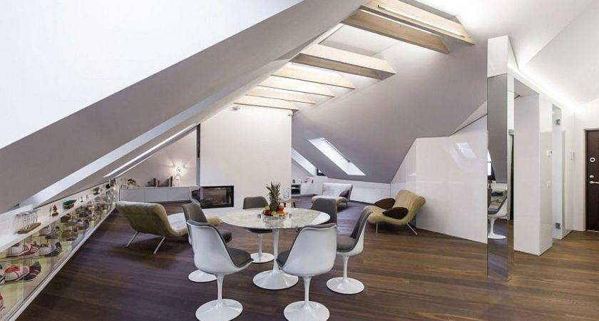Small Modern Attic Apartment Vilnius Ycl Studio