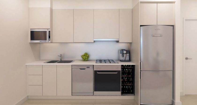 Small One Wall Kitchen Design