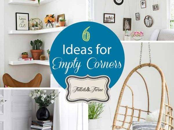 Small Scale Decorating Ideas Empty Corner Spaces