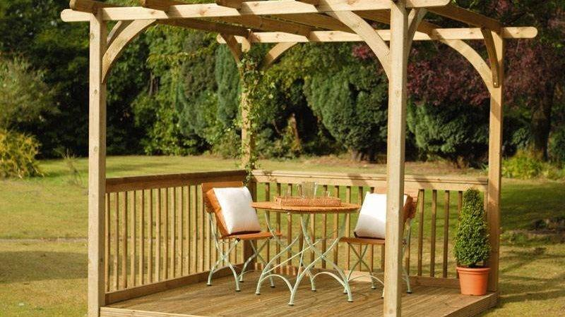Small Simple Pergola Designs Cozy But