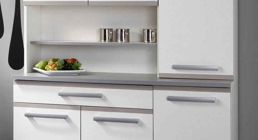 Small Space Grey Kitchen Design Matte White Compact
